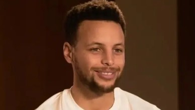 Golden State Warriors player Steph Curry is shown. (Credit: YouTube)
