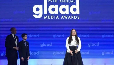 Ava DuVernay is honored at the GLAAD Media Awards on Saturday, May 5, 2018. (Credit: Twitter)
