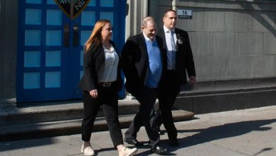 Harvey Weinstein Perp Walk on Friday, May 25, 2018. (Credit: Twitter)