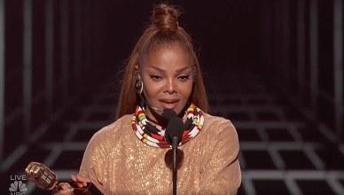 Janet Jackson Accepts Billboard Award (Credit: NBC)