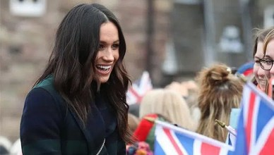 Meghan Markle greeted well-wishers in Scotland on February 13, 2018. (Credit: Instagram/kensingtonroyal)