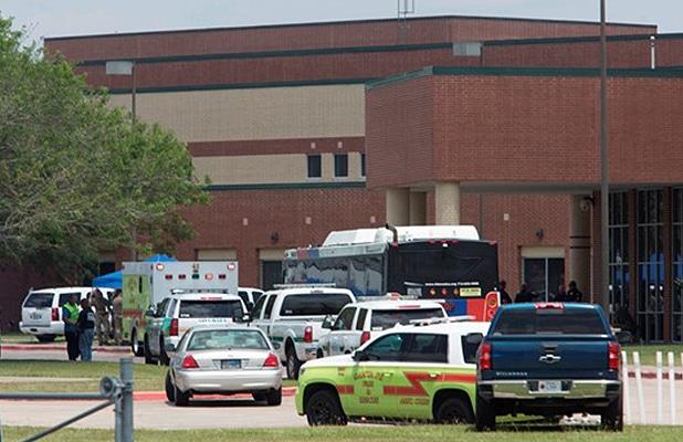 A gunman opened fire at Santa Fe High School in Santa Fe, Texas on Friday, May 18, 2018. (Credit: YouTube)