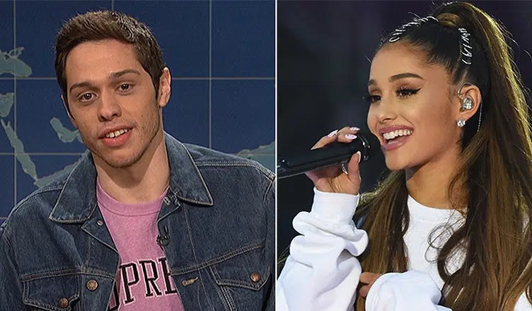 Ariana Grande and Pete Davidson (Credit: YouTube)