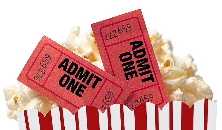 Move Ticket and Popcorn (Credit: Deposit Photos)