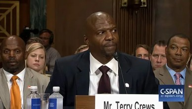 Terry Crews at Senate Hearing (Credit: C-Span)