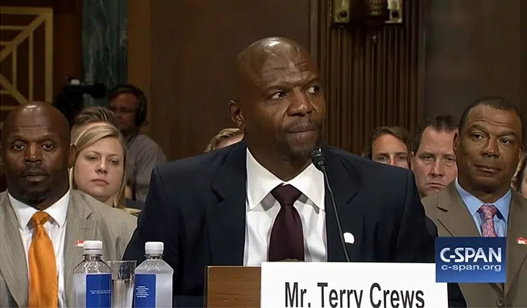 Terry Crews at Senate Hearing (Credit: C-Span)