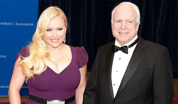 Meghan McCain and John McCain attend the White House Correspondents' Dinner (Credit: Deposit Photos)