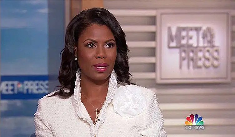 Omarosa on Meet the Press (Credit: NBC)