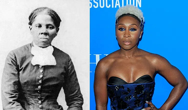 Harriet Tubman and Cynthia Erivo are shown. (Credit: Stock and Deposit Photos)