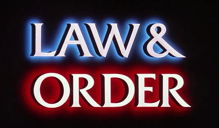 Law and Order Title Card (Credit: NBC)