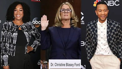 Shonda Rhimes, Christine Blasey Ford and John Legend (Credit: Deposit Photos)