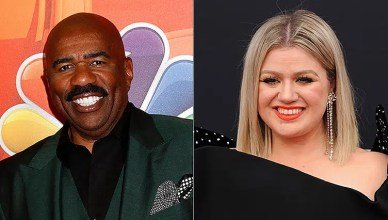 Steve Harvey and Kelly Clarkson (Credit: Deposit Photos)