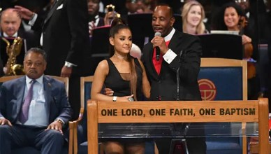 Ariana Grande and Bishop Charles H. Ellis (Credit: YouTube)