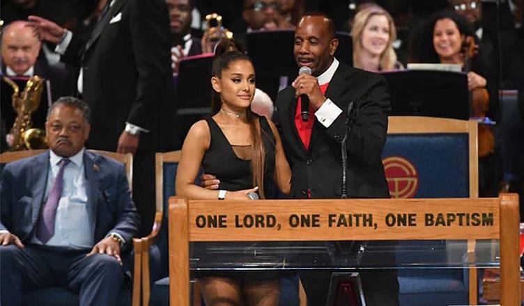 Ariana Grande and Bishop Charles H. Ellis (Credit: YouTube)