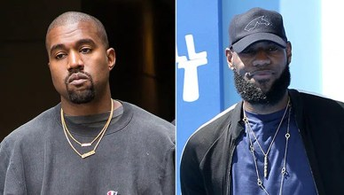 "Kanye West is seen exiting her hotel on September 3, 2016 in New York City. LeBron James at the ""Small Foot"" Premiere at the Village Theater on September 22, 2018 in Westwood, CA (Credit: Shutterstock)"