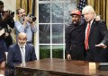 Saturday Night Live spoofed President Donald Trump's Oval Office meeting with Kanye West on Oct. 13, 2018. (Credit: Will Heath/NBC)