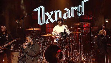 "Anderson Paak and Kendrick Lamar perform on ""Saturday Night Live"" (Credit: NBC)"