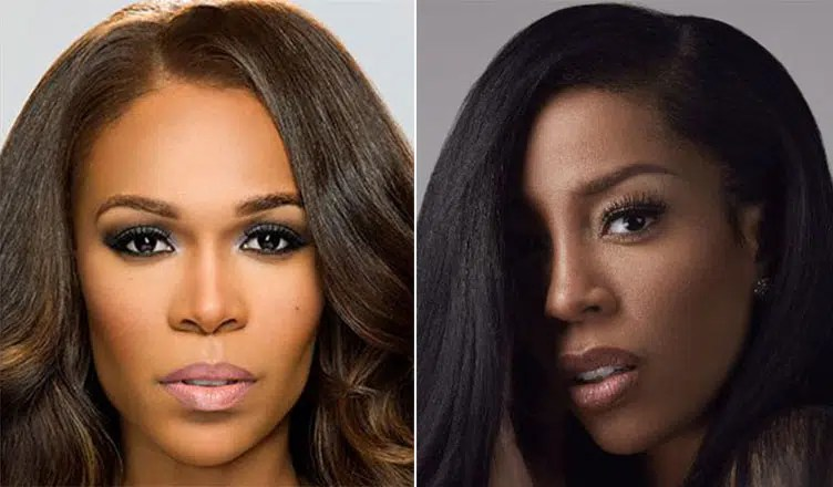 Michelle Williams and K. Michelle (Credit: Derek Blanks and Atlantic Records)