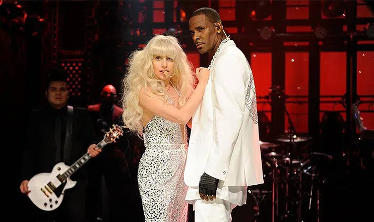 Lady Gaga and R. Kelly perform on Saturday Night Live. (Credit: NBC)