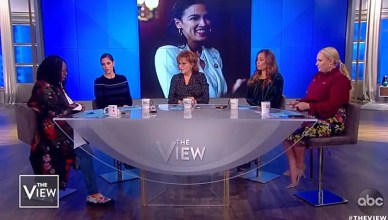 """The View"" panels discuss Rep. Ocasio-Cortez. (Credit: ABC)"