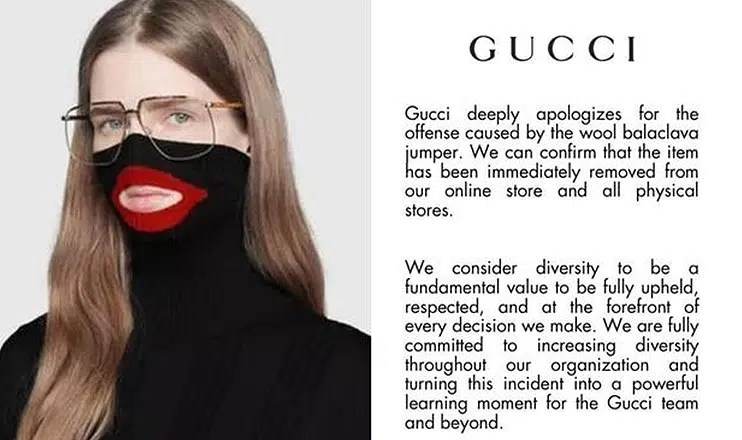 Gucci apology