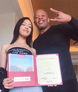 Dr. Dre and Daughter (Credit: Instagram)