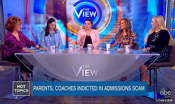 The View College Cheating Scandal Debate (Credit: ABC)