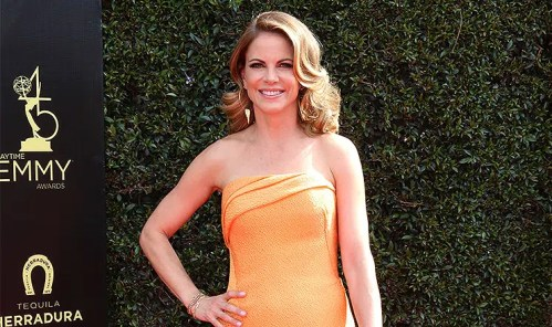 Natalie Morales at the 45th Daytime Emmy Awards at the Pasadena Civic Auditorium on April 29, 2018 in Pasadena, CA. (Credit: Jean Nelson/Deposit Photos)