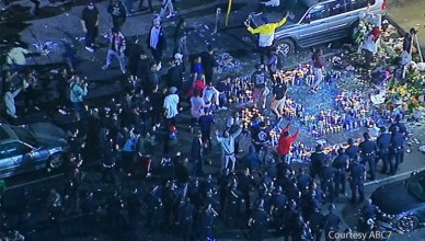 Nipsey Hussle Vigil Turns to Chaos (Credit: ABC7)