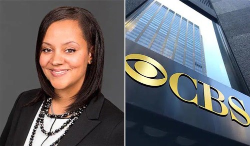 Whitney Davis and CBS Building (Credit: LinkedIn and CBS)