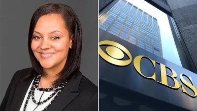 Whitney Davis and CBS Building (Credit: LinkedIn and CBS)