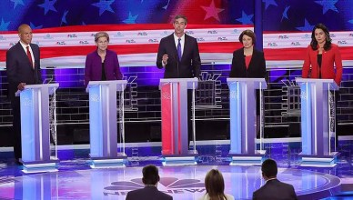 NBC hosts the first Democratic Debate of the 2020 campaign season. (Credit: YouTube)