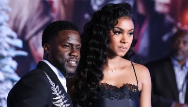 "LOS ANGELES, USA. December 10, 2019: Kevin Hart & Eniko Parrish at the world premiere of ""Jumanji: The Next Level"" at the TCL Chinese Theatre – Stock Editorial Photography"