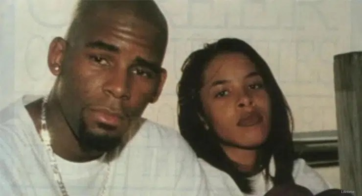 """R. Kelly and Aaliyah shown together on """"Surviving R. Kelly."""" (Credit: Lifetime)"""
