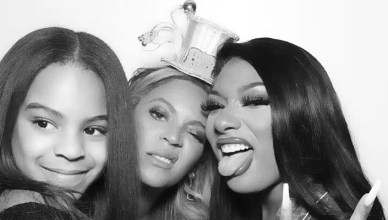 Blue Ivy, Beyonce and Megan Thee Stallion (Credit: Instagram)