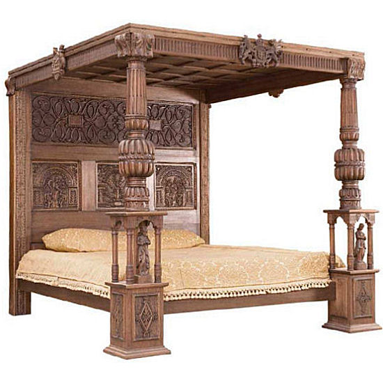 Teak Furniture Indonesia Canopy Bed 108 - Wholesale Bedroom Furniture