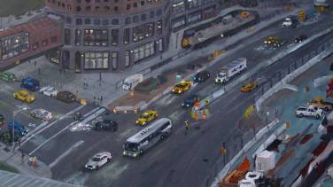 Traffic on West Street