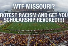 WTF: Protest Racism and Get Your Scholarship Revoked!!!!