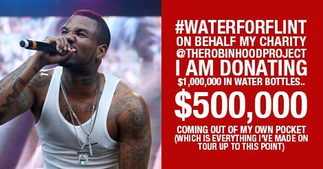 "$500,000 Personally Donated For Flint Water Crisis By Rapper ""The Game"" {WITH PHOTOGRAPHIC PROOF} 2"