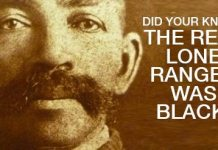 Did You Know The Real Lone Ranger Was Black And He Did Ride With A Native American?