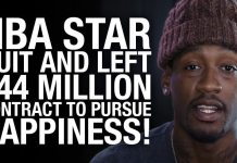 NBA Star Quit and Left $44 MILLION Contract To Pursue Happiness of Being Being an Artist! (VIDEO)