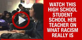 [VIDEO] High school student schools teacher on what Racism is...