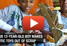 Poor Genius 12-Year-Old Boy Makes Robotic Toys Out of Scrap [VIDEO]