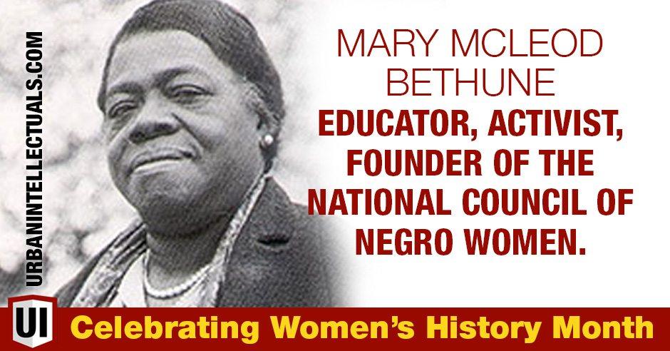 Mary Mcleod Bethune Educator Activist Founder Of The