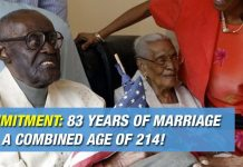 COMMITMENT: 83 Years Of Marriage And A Combined Age Of 214!