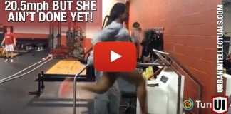 UNLEASH THE BEAST: College Freshman Runs 20.5mph On Treadmill and She Ain't Done!!!
