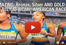 "AMAZING: Bronze, Silver AND GOLD in the 100M Hurdles: The ALL ""AFRICAN"" AMERICAN RACE!"