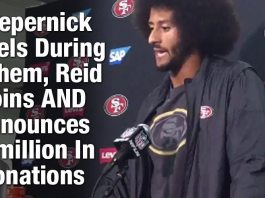 Kaepernick Kneels During Anthem, Reid Joins AND Announces $1million In Donations