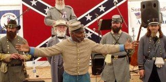 KKK Members Shocks Veteran Black Confederate Flag Enthusiast with Harassment