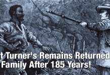 Nat Turner's Remains Returned To Family After 185 Years!